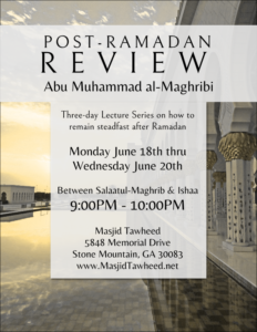 Post Ramadan Review 1439 - 2018